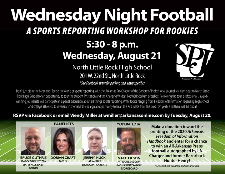 Arkansas SPJ to host Sports Reporting For Rookies