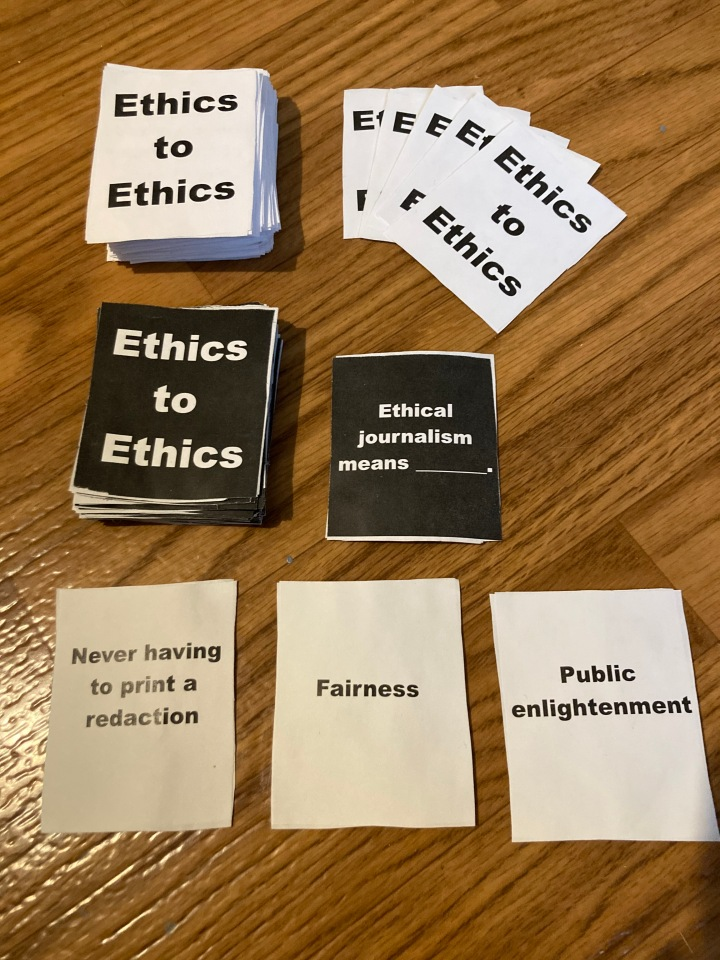 Arkansas SPJ Launches Ethics to Ethics Card Game